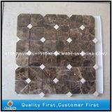Emperador oscuro o marrón de piedra de mármol, azulejos de mosaico para pared Backsplash