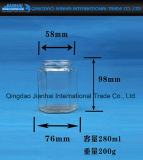 Hexgonal Glasglas-Glasflasche für Essiggurken