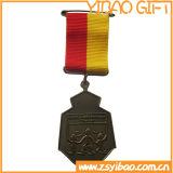 Medalla corriente cortada del esmalte con 3D (YB-MD-52)