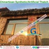 PE/PVC de kunstmatige Synthetische Palm met stro bedekt de Paraplu van het Strand van het Dak