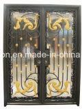 ガラス錬鉄の前ドア