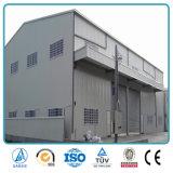 Edificio prefabricado del almacén de la estructura de acero del acero que enmarca ligero