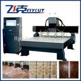 Máquina de grabado de madera, máquina del CNC con el motor de pasos
