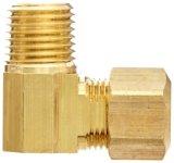 Les métaux du raccord de tube de compression en laiton, le degré le raccord coudé