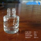Runde geformte Glasnagellack-Flaschen-leere kosmetische Glasflasche