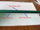 Vidrio laminado de PVB de la película de la seguridad verde oscuro del edificio
