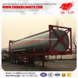 Remorque chimique de camion-citerne de liquides 40FT de conteneur facultatif de la capacité