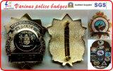 Pin de metal Placas placas de policía insignias militares oficial de policía militar Insignias Monedero Monedero Policía Distintivos de cuero Badge Carteras