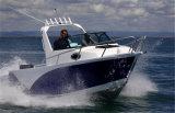 Barco de pesca de alumínio da placa a pouca distância do mar do fuzileiro naval do uso 5.8m