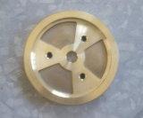 Pezzo meccanico forgiato caldo d'ottone solido con il giro di CNC