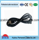 PVC는 중국 전기 제조 미국 UL 플러그 연장 전원 플러그 케이블 3 Pin 전원을 격리했다