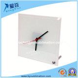 Reloj cuadrado de cristal con soporte