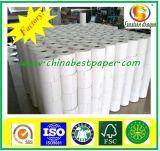 Rolagem de papel térmico de pasta de madeira para ATM, POS / papel de poeira baixa