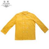 Diseño personalizado de color amarillo de capa uniforme de Chef
