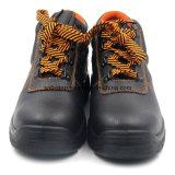 Zapatos de punta de trabajo de acero barato del cuero auténtico