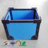 Caixa plástica da modificação dos PP do Tote de DSC/Stackable com canto e punho para o transporte