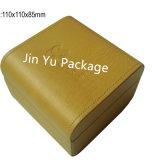 Caixa de embalagem de couro plástica do relógio Jy-Wb16 com logotipo feito sob encomenda