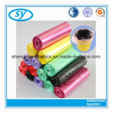 Bolso de basura plástico colorido impreso aduana caliente de la venta