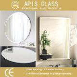 Espejo de moldura do banheiro, espelho de maquiagem, espelho de parede, espelho de moldura com bordos chanfrados e polidos