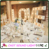 LED Letter Sign Wedding Lights Decoração