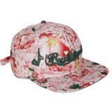 Kundenspezifische Baumwollpreiswerter Blumendrucken-Hysteresen-Hut mit Stickerei