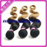 El cabello virgen de Malasia de onda de cuerpo, el 100% se puede teñir cabello humano.