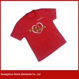 T-shirts d'impression d'écran en soie d'usine d'OEM pour la promotion avec votre propre logo (R72)