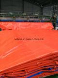 赤い防水シートカバー、PEの防水シートシート