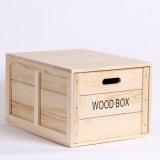 Rectángulo fino de madera del envase de madera de pino