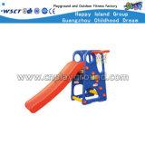 Toddler plástico de juguete de plástico deslizante conjunto de swing en Stock (HC-16406)
