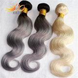 高品質ボディ波のブラジルに毛の薄い色の金髪の編むこと