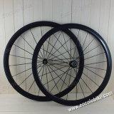 Clincher 38мм/ 25мм 700c дорожного велосипеда Wheelset углерода (U-образная)