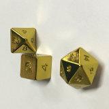 高品質の金張りのPolyhedralダイスセット