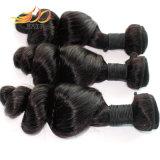 Extensão 100% frouxa malaia do cabelo da onda do cabelo não processado do Virgin