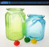 Рук-Дунутая ваза стеклоизделия цвета прокладки распыляя для гостиницы