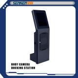 Senken Estación de acoplamiento para cámaras policíacas de aplicación de la ley del cuerpo 24 puertos con sistema de gestión