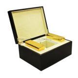 Caixa de empacotamento ajustada do grande perfume de madeira do revestimento de Matt