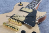Guitarra elétrica do Lp da flama feita sob encomenda na cor natural (GLP-85)