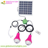Bulbo solar portátil do diodo emissor de luz, sistema claro solar, painel solar