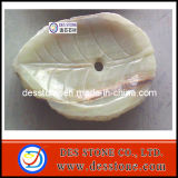 Jade Natural Lotus Leaf encimera de mármol con lavabo