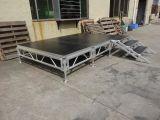 Stadiums-Aluminiumlegierung-Glasstadiums-faltendes Stadiums-bewegliche hölzerne Aluminiumplattform-bewegliches Stadium für Ereignis zusammenbauen