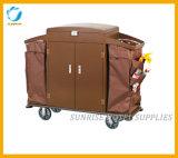 Тележка багажа вагонетки багажа нержавеющей стали для гостиницы