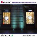 Afficheur LED transparent mou/de verre de bonne visualisation de RVB pour l'installation de guichet de construction
