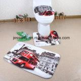 Горяче продающ водоустойчивый и Non-Slip комплект циновки ванной комнаты циновки ванны 3-Piece пола