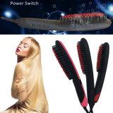 Nuevo cepillo de la enderezadora del pelo de la paleta del control de la temperatura de la llegada LED