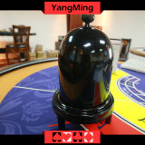 Copo de dados automático da forma manual plástica preta do copo de dados do casino da cor para os jogos de tabela Ym-Di03 do póquer do casino