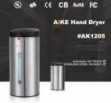 AK1205 Automaat van de Zeep van de Hand van de Sensor van het Roestvrij staal van het Toilet van de aanraking de Vrije Bijkomende Commerciële Automatische Vloeibare