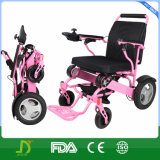 Aluminio ultra ligero plegable el sillón de ruedas eléctrico con la batería de litio