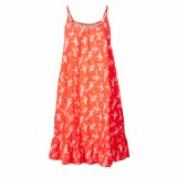 Женщины способа связали напечатанный отдых свободно подшивают плиссированное платье выскальзования