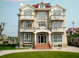 Casa prefabricada de dos pisos tres con la estructura ligera del marco de acero